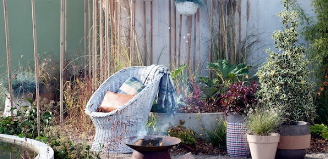 3 x tuin en terras in de herfst & winter