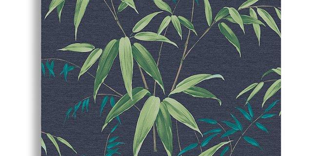 Bamboe aan de muur