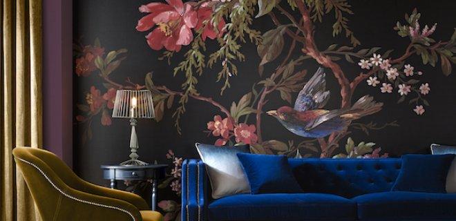 Behang als muurschildering