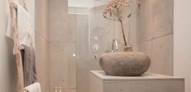 Stoer & stijlvol: beton in de badkamer