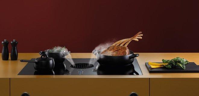 Koken met kookveldafzuiging