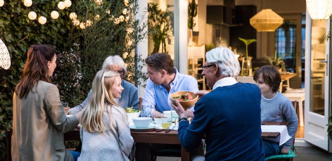 Mini foodfestival in eigen tuin