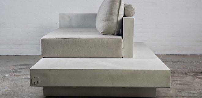 Lichtgewicht, betonlook meubels van Nederlands designlabel