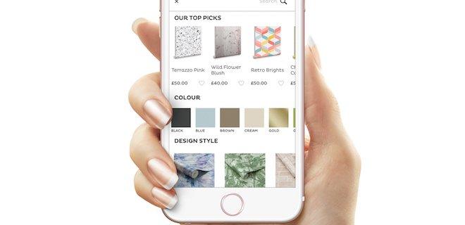 Nieuwe app, visualiseer met patronen en kleuren aan de muur