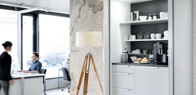 Poggenpohl +STAGE themakasten: bar, keuken, ontbijt & garderobe