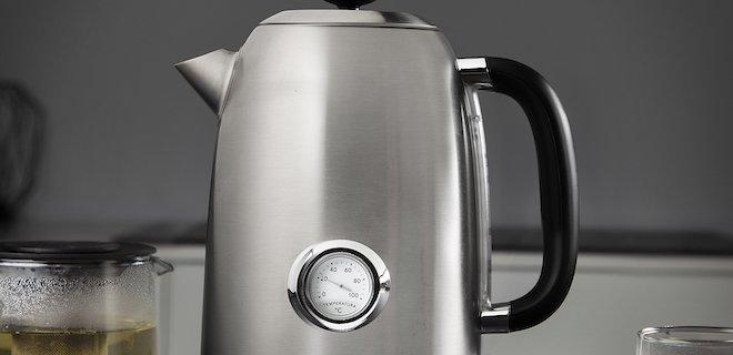 Retro waterkoker voor verschillende temperaturen thee