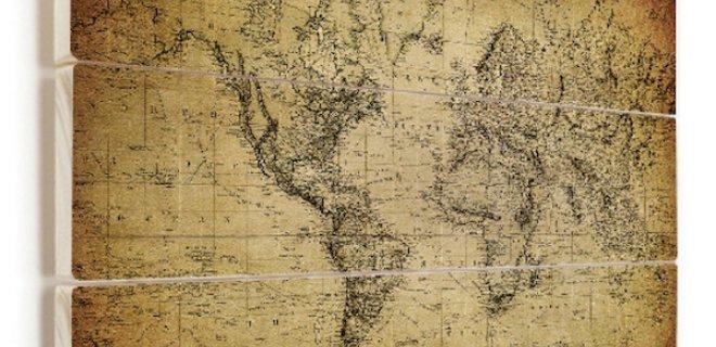 Voor elk interieur een wereldkaart