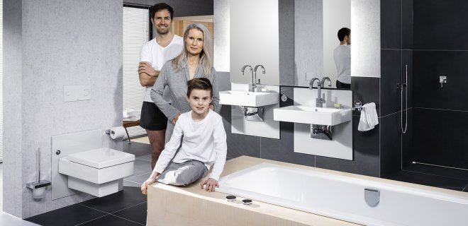 Stijlvolle aangepaste badkamer voor jong & oud