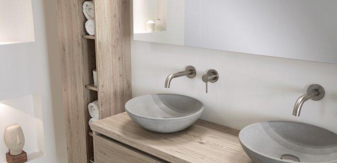 Badkamertrend: stoer beton in de badkamer