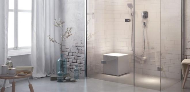 Badkamertrend: zittend douchen!