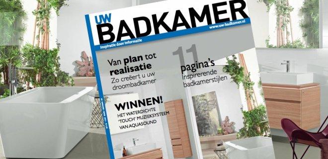 Badkamertrends 2015 in UW badkamer magazine
