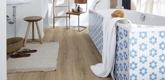 Badkamervloer: vinylvloer zonder vinyl