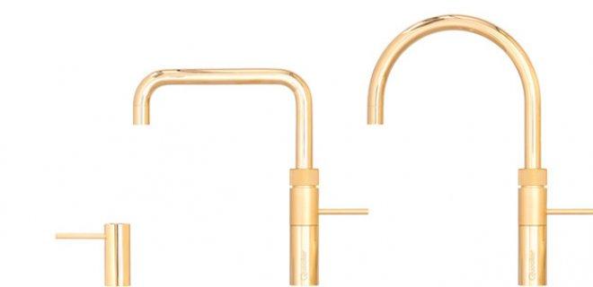 Glamour in de keuken: de gouden kokendwaterkraan van Quooker