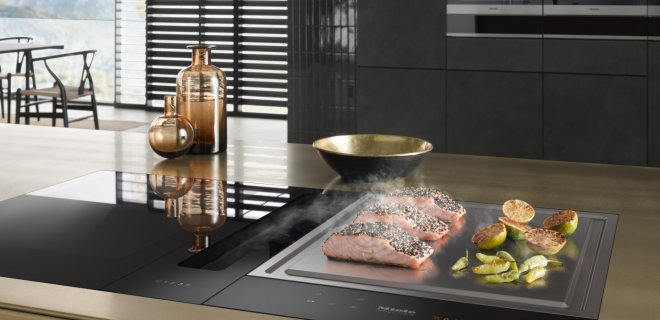 Koken op inductie of gas: kookplaten met werkbladafzuiging