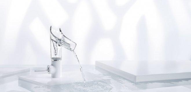 Design Award voor glazen wastafelkraan Axor Starck