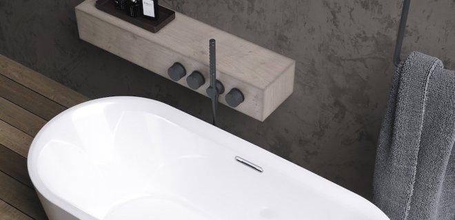 Luxe in de badkamer met vrijstaand design bad Modesty