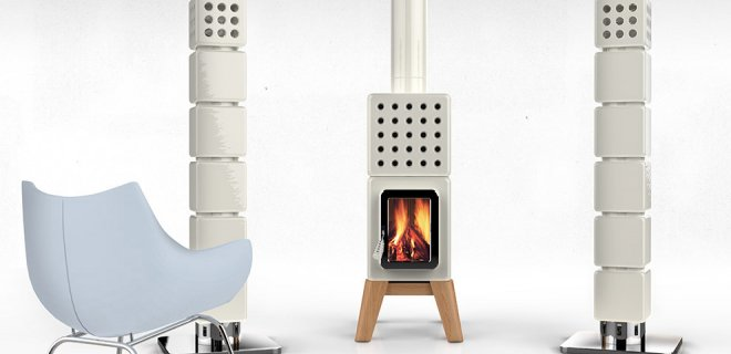 Houtkachel ThermoStack met centraal verwarmingssysteem