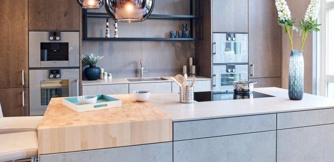 Uitgelicht! Designkeuken met betonlook en hout
