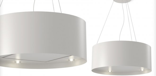 Eiland afzuigkap & lamp Wave 2610