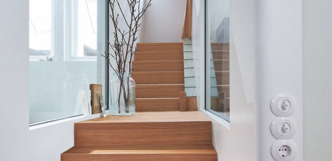 Elegante houten trap met Meister parket