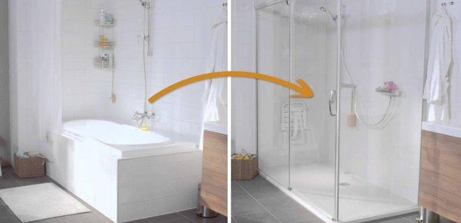 Handig van Kinedo: een douche of bad binnen 1 dag