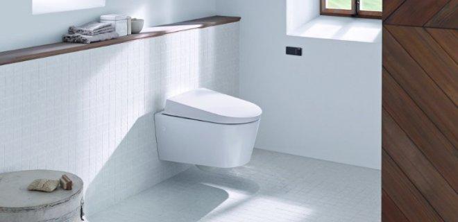 Toilet met de afstandsbediening van Geberit