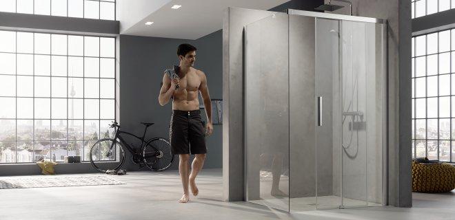 Glazen douchewanden en schuifdeuren voor de inloopdouche