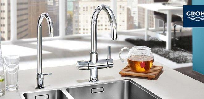 GROHE Red ®: Eén keukenkraan voor koud, warm én kokend heet water