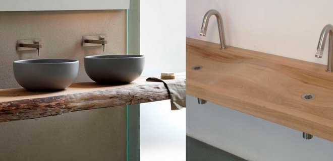 Betonnen wasbak met houten badkamermeubel  Product in beeld  Startpagina vo # Wasbak Lavanto_202148