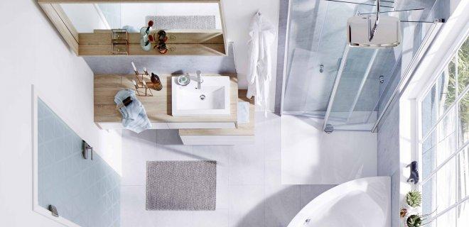 Inklapbare douchecabines voor de kleinste badkamers