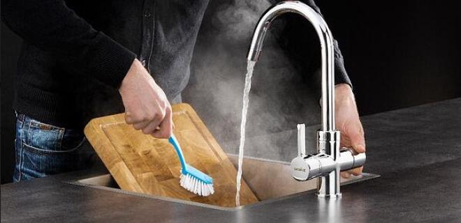 Hygiëne in de keuken met een kokendwaterkraan