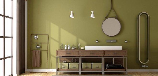 Industriële badkamer met retro sanitair