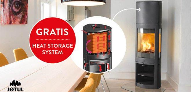 Scandinavische houtkachels met gratis Heat Storage System