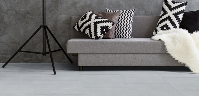 Koele betonlook met deze vloeren van Moduleo