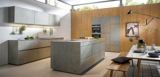 Uitgelicht! Designkeuken NX 950 met hout & betonlook