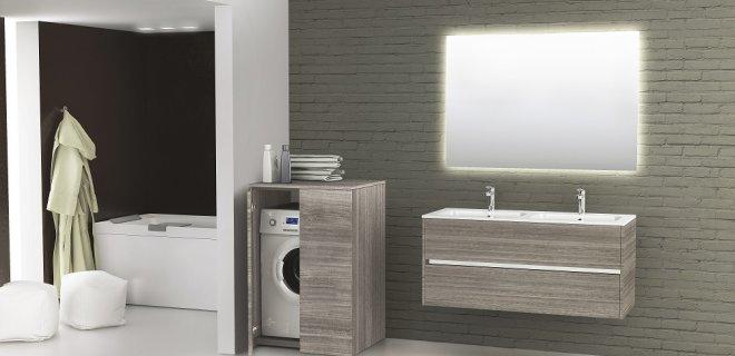 Mooi van Novellini: wasmachinekasten bij je badkamermeubel ...