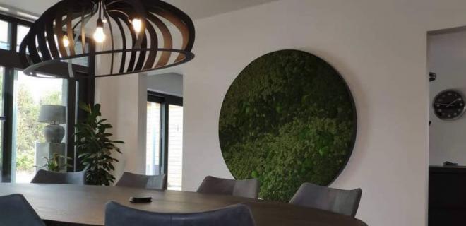 Groen in huis met een uniek mosschilderij