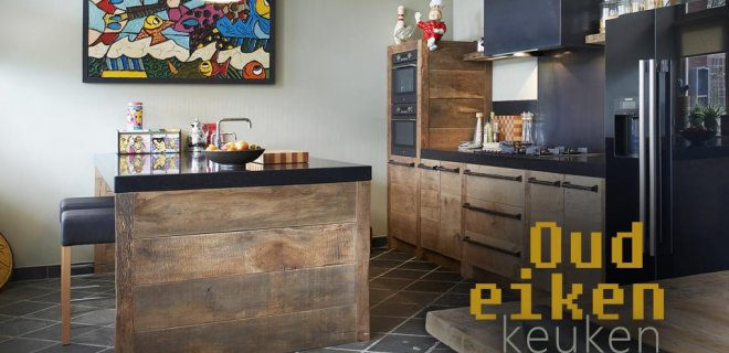 RestyleXL oud eiken keuken