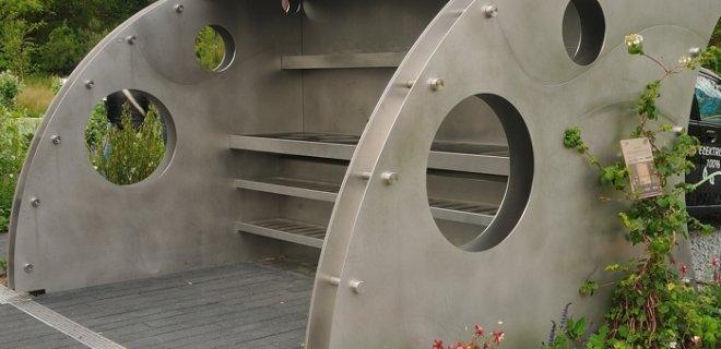 Solar carport met complete buitenkeuken van ABK