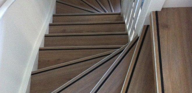 Trapsysteem voor PVC vloeren