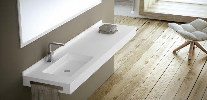 Mooi voor de badkamer: vrijhangende wastafelconsoles