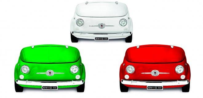Smeg500: koelkast in een Fiat