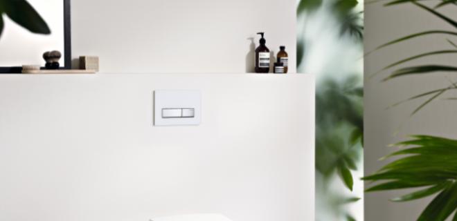 Bacterieloos touch-screen met Geberit Aqua Clean
