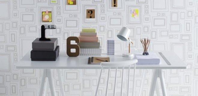 Creëer een kunstwerk op de muur met behang Frames
