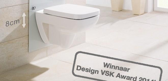 Viega wint design Award met in hoogte verstelbaar wc-element