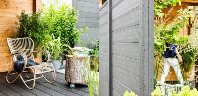Schuttingen & terrasplanken van houtcomposiet