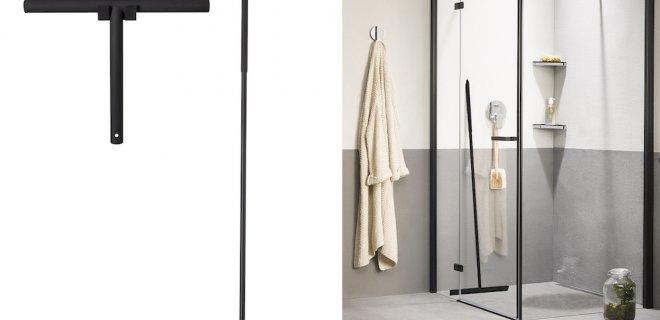 Stijlvol een streeploze douche met zwarte wissers
