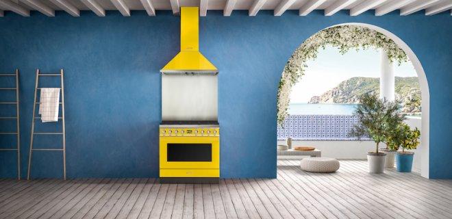 Smeg fornuis Portofino in te gekke Mediterrane kleuren