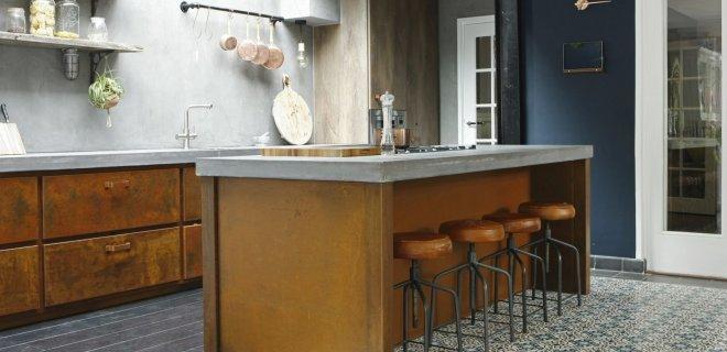 Keukeninspiratie! Keukens van staal, hout & beton