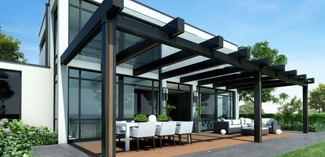 Stalen terrasoverkapping: staaltje van minimalisme